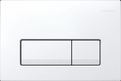 GEBERIT przycisk uruchamiający Delta51, przedni,  biały-alpin do stelaży Basic DELTA UP100