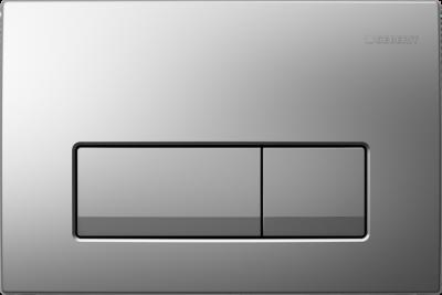 GEBERIT przycisk uruchamiający Delta51, przedni,  chrom-mat do stelaży Basic DELTA UP100