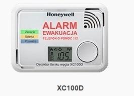 HONEYWELL DETEKTOR TLENKU WĘGLA CZADU XC100D