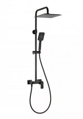 VALVEX LOFT BLACK Zestaw natryskowy z baterią natryskową i deszczownicą CZARNY