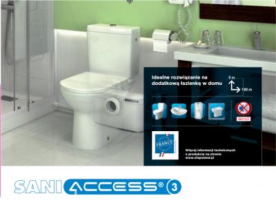 SFA Saniaccess 3 pompa rozdrabniacz do WC , umywalka , prysznic , bidet