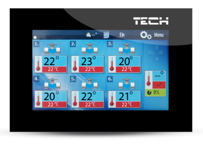 TECH M-6 bezprzewodowy panel kontrolny do listwy L-6
