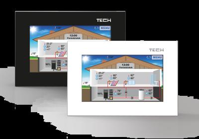 TECH ST-281 Regulator pokojowy z komunikacją RS , kolorowy , dotykowy wyświetlacz
