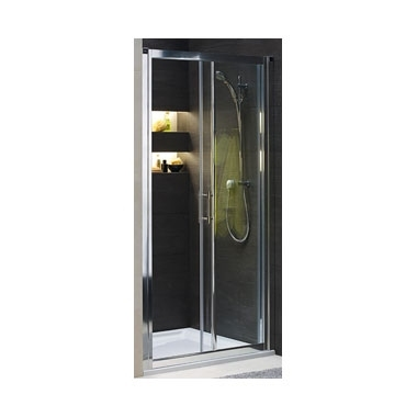 KOŁO Drzwi rozsuwane GEO 6 100, szkło przeźroczyste, profile srebrne połysk