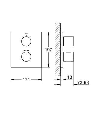 GROHE Grohtherm 3000 Cosmopolitan bateria termostatyczna do obsługi wiecej niż jednego wyjścia wody CHROME
