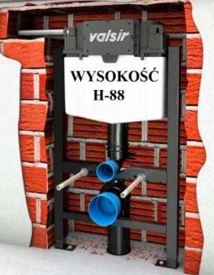 VALSIR WINNER-S stelaż wc H-88 do lekkiej zabudowy