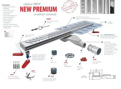 WIPER New Premium PURE 500 mm POLER ODWODNIENIE LINIOWE