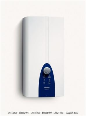 SIEMENS przepływowy ogrzewacz wody 24 KW DH24400