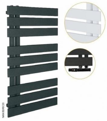 INSTAL PROJEKT NAMELESS grzejnik łazienkowy 500x930 mm C33 BLACK STRUCTURE