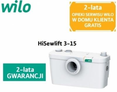 WILO HiSewlift 3-15 pompa z rozdrabniaczem do WC + umywalka