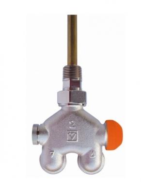 HERZ zawór termostatyczny 4-drog grzejnikowy VUA40 katowy