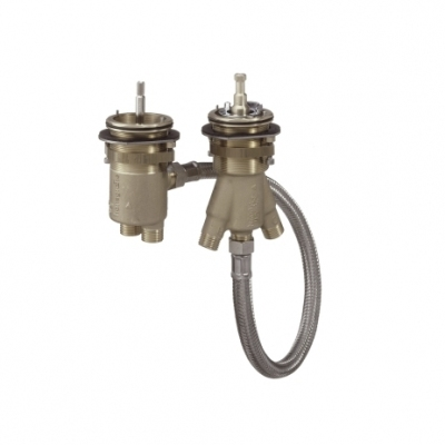 HANSGROHE 2-otworowy termostat na brzeg wanny DN15, zestaw podstawowy
