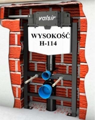 VALSIR WINNER-S stelaż wc H114 do lekkiej zabudowy
