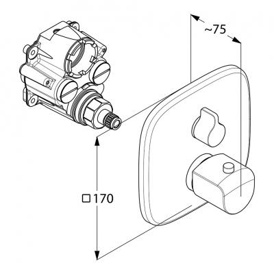 KLUDI AMEO podtynkowa bateria wannowo-natryskowa z termostatem