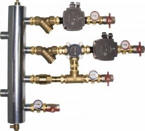 AFRISO Zestaw mieszający ze sprzęgłem hydraulicznym BPS, człon bez mieszania i z zaworem obrotowym ARV 384