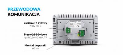 TECH M-9 R PRZEWODOWY PANEL KONTROLNY Z MODUŁEM WiFi (montaż podtynkowy)