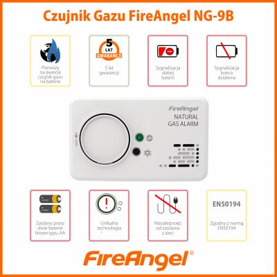 FireAngel NG-9B Czujnik gazu ziemnego (metanu)