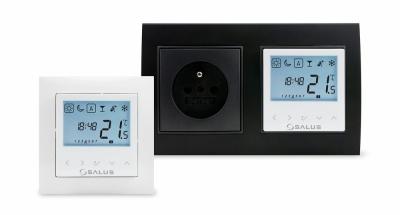 SALUS BTRP230(50) Przewodowy, podtynkowy, cyfrowy regulator temperatury - tygodniowy, 230V, montaż do ramki 55x55
