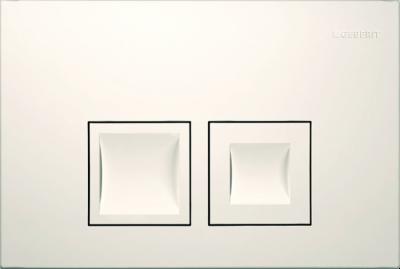 GEBERIT przycisk uruchamiający Delta50, przedni, biały-alpin do stelaży Basic DELTA UP100