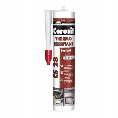 CERESIT CS28 czerwony silikon wysokotemperaturowy