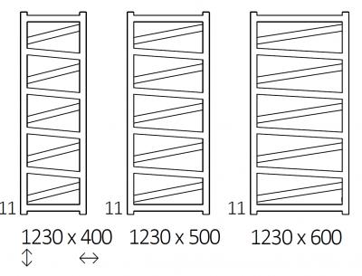 VIPERA grzejnik łazienkowy 500x1230 BIAŁY