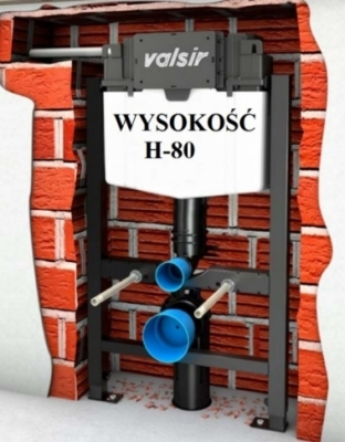 VALSIR WINNER-S stelaż wc H-80 do lekkiej zabudowy
