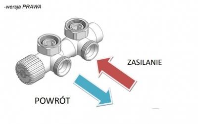VARIO TERM zawór grzejnikowy TWINS CHROM + złączki pex 16