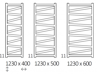 TERMA VIPERA grzejnik łazienkowy 500x1230 CZARNY MAT
