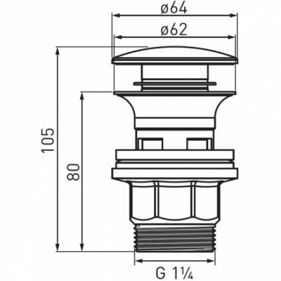 FERRO Korek umywalkowy automatyczny Clik-clak
