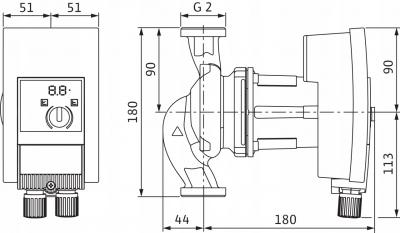 WILO Yonos MAXO 30/0,5-10 pompa do C.O. elektronik