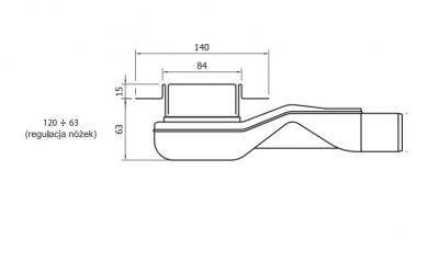 WIPER New Premium PONENTE 500 mm MAT ODWODNIENIE LINIOWE