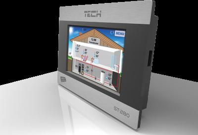 TECH ST-280 Regulator pokojowy z komunikacją RS , kolorowy, dotykowy wyświetlacz