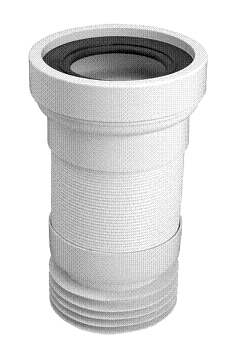 McALPINE WC-F23R-EU  Przyłącze kanalizacyjne elastyczne o długości od 230 do 540mm