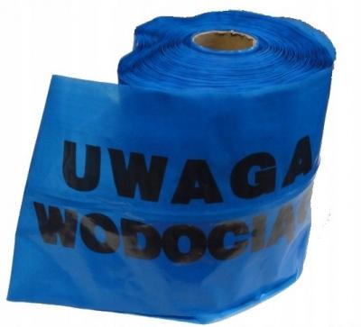 Taśma niebieska z wkładką stalową WODA 20cm x 50 m