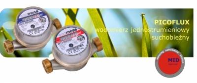 ECOMESS Wodomierz jednostrumieniowy 1/2 Picoflux 1,6 m3/h do wody ciepłej