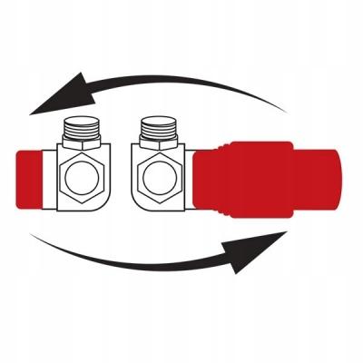 FERRO Zestaw termostatyczny osiowy ,antracyt