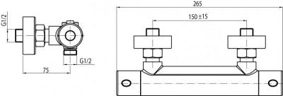 VALVEX ESTILL ROUND PLUS Bateria natryskowa termostatyczna + zestaw natryskowy FARO
