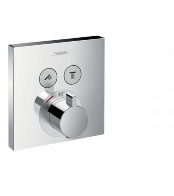 HANSGROHE Bateria termostatyczna ShowerSelect, montaż podtynkowy, dla 2 odbiorników, element zewnętrzny
