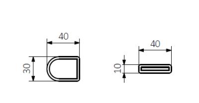 TERMA VIPERA grzejnik łazienkowy 500x750 CZARNY MAT