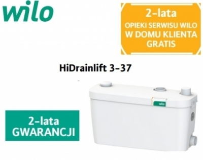 WILO HiDrainlift 3-37 pompa do zmywalki , pralki do 75°C