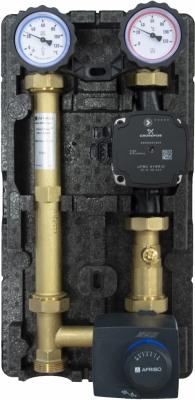 AFRISO Grupa pompowa PrimoTherm 180-2 Vario DN25, pompa UPM3 Hybrid, zawór mieszający ARV KvsVario, siłownik ARM 343 ProClick - zastępuje 77641