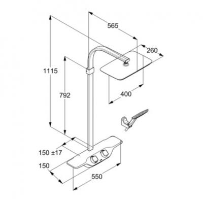 KLUDI COCKPIT Discovery system natryskowy z termostatem