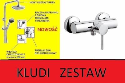 KLUDI  BOZZ natryskowa + dual shower 6609005