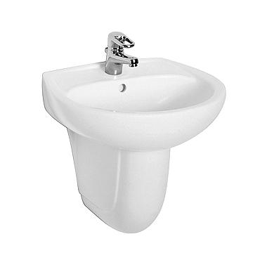 KOŁO Umywalka IDOL 55 cm z otworem, z przelewem