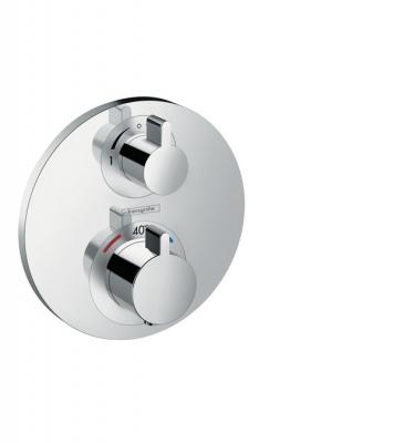 HANSGROHE Ecostat S Bateria termostatyczna Ecostat S z zaworem odcinająco-przełączającym, montaż podtynkowy, element zewnętrzny