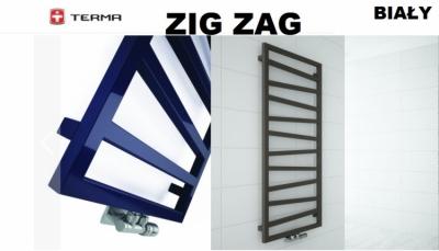 TERMA grzejnik łazienkowy ZIG ZAG 500 x 835 mm BIAŁY podłączenie środkowe Z8
