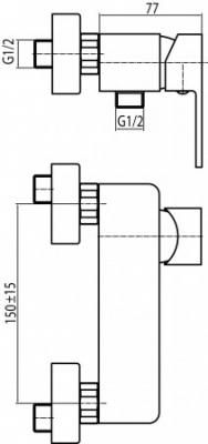 VALVEX LOFT GOLD bateria natryskowa ścienna