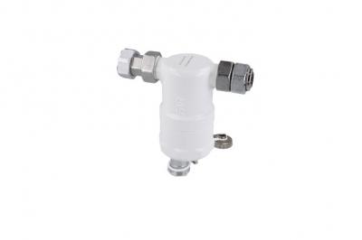 AFRISO Kompaktowy separator zanieczyszczeń FAR 402, z magnesem i zaworem spustowym, proste przyłącze GW G3/4