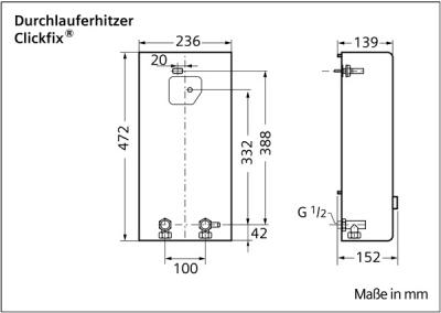 SIEMENS przepływowy ogrzewacz wody 12 KW DH12400