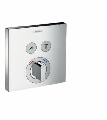 HANSGROHE Bateria ShowerSelect dla 2 odbiorników, montaż podtynkowy, element zewnętrzny